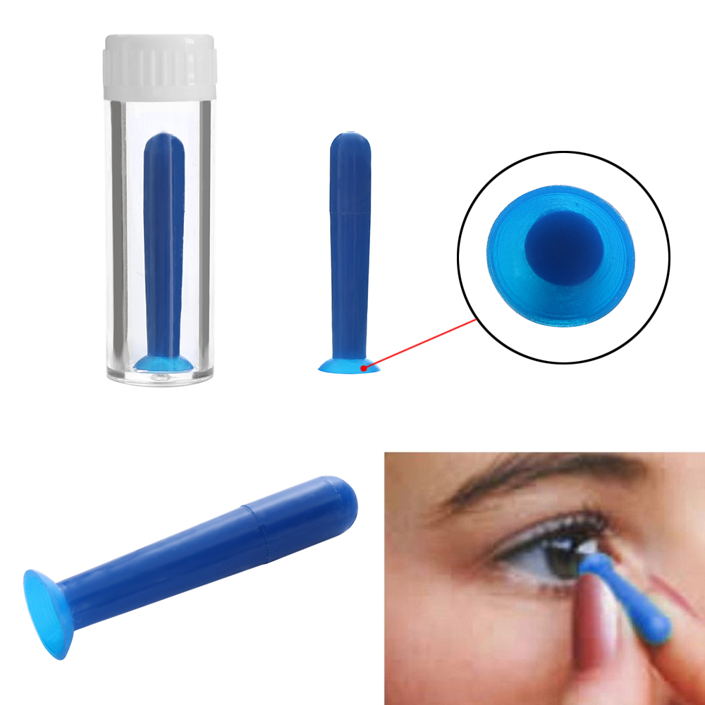 2 Pcs Portable Good Quality Contact Lens Inserter Remover For Color /Colored /Halloween Contact Lenses Sucker Makeup Tool