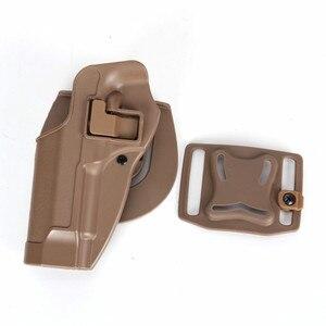 Image 2 - 2017 New Arrival CQC M92 1set pistol gun Holster Polymer ABS Plastic waist belt gun holster fit Airsoft right hand
