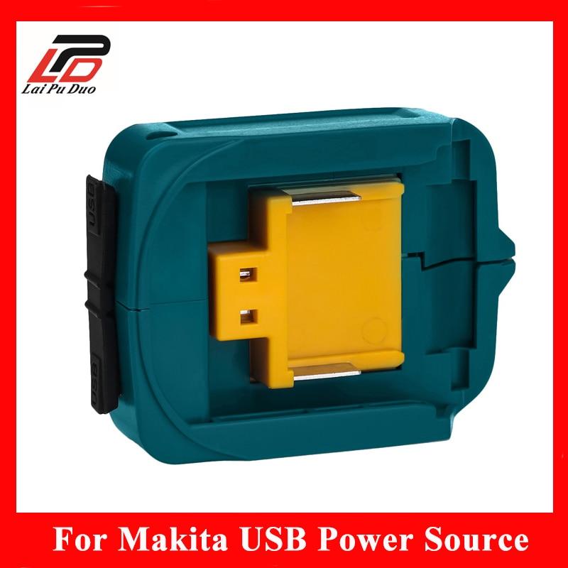 For Makita 14.4v-18v Cordless Power USB Charger Bl1430 BL1830 BL1860 Li-Ion USB Battery Charger Adapter