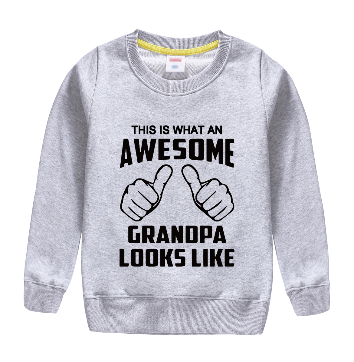 "HTB1UhEBlRDH8KJjSszcq6zDTFXaN - ""this is what an awesome granopa  looks like "" printing 2018 new fashion cotton sweatshirt baby boy clothing top tees for kids"