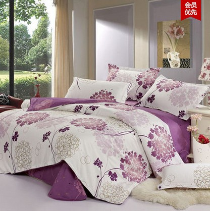 Fashionable home suit 100 cotton purple and white flower 4pcs fashionable home suit 100 cotton purple and white flower 4pcs bedding set bedclothes comforterduvetquilt cover set2134 queen in bedding sets from home mightylinksfo