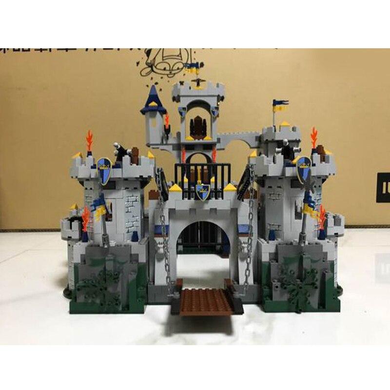 WAZ Compatible Legoe Castle Series 7094 Lepin 16017 1023pcs King's Castle Siege building blocks Figure bricks toys for children