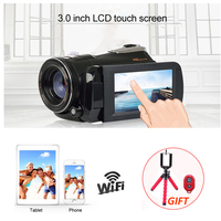 1080p Digital HD Video Camera Wifi Camcorder DV Night Vision Infrared 3.0 Touch Screen Remote Control DSLR Digital Photo Camera