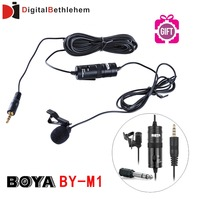 BOYA Lavalier Omnidirectional Condenser Microphone for Canon Nikon Sony,for iPhone 6 Plus DSLR Camcorder & Audio Recorders BY-M1