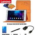 Para Lenovo TAB 2 A8 A8-50F A8-50LC 8 '' Tablet PC capa de couro protetora dormência