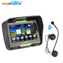 Fodsports 4 3 Inch 256MB 8GB motorcycle navigation motorbike IPX7 GPS navigator waterproof with bluetooth headset