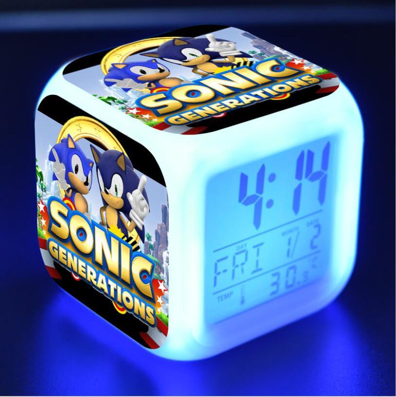 Sonic The Hedgehog LED Cube Alarm Clock 9