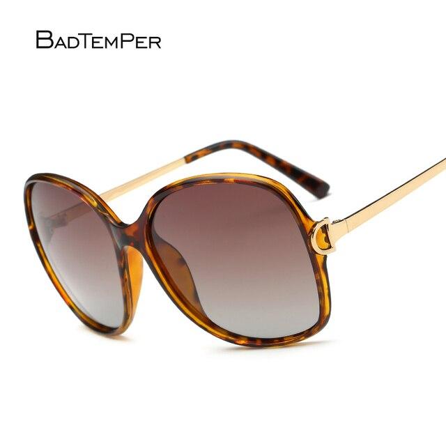 ae3b0cb62 Badtemper Fashion Vintage Sunglasses Women Men Brand Big Size Summer  Polarized Women Sunglasses Metal Retro Sunglasses
