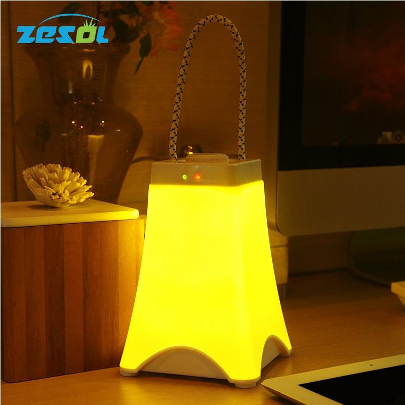 Lampka nocna LED ZESOL Eiffel LED Awaryjna lampa akumulatorowa USB z funkcją ładowania awaryjnego biała ciepła i chłodna biała Baby Dacoration