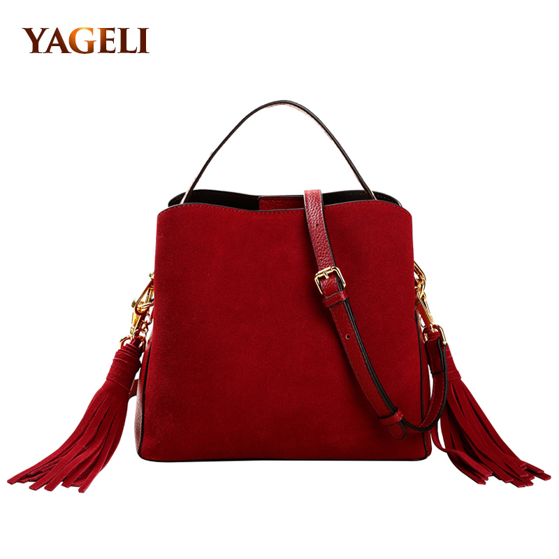 где купить Women genuine leather handbags bucket ladies shoulder bags cow leather luxury handbags women bags designer brand ladies bags по лучшей цене
