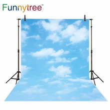 Funnytree céu azul fotografia pano de fundo branco nuvem decoração festa cena Da Natureza fundo photo studio photocall photobooth novos