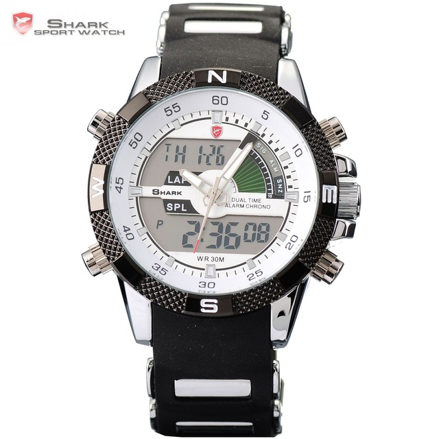 Porbeagle SHARK Sport Watch Men Outdoor Fashion Digital Multifunction Day Stopwatch Waterproof Silicone Relogio Masculino /SH041