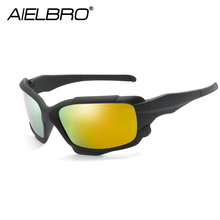 AIELBRO Fashion Polarized Sunglasses Men Luxury Brand Designer Vintage Driving Sun Glasses Male Mirror Goggles Shadow UV400