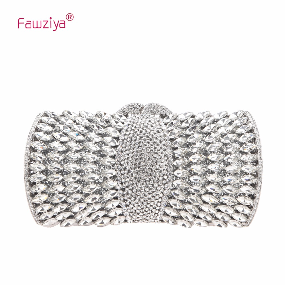 Fawziya Shoulder Bag Women Diamond Purses And Handbags Bling Clutch Evening Bags