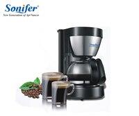 0 65L Electric Drip Coffee Maker Household Coffee Machine 6 Cup Tea Coffee Pot 220V Sonifer