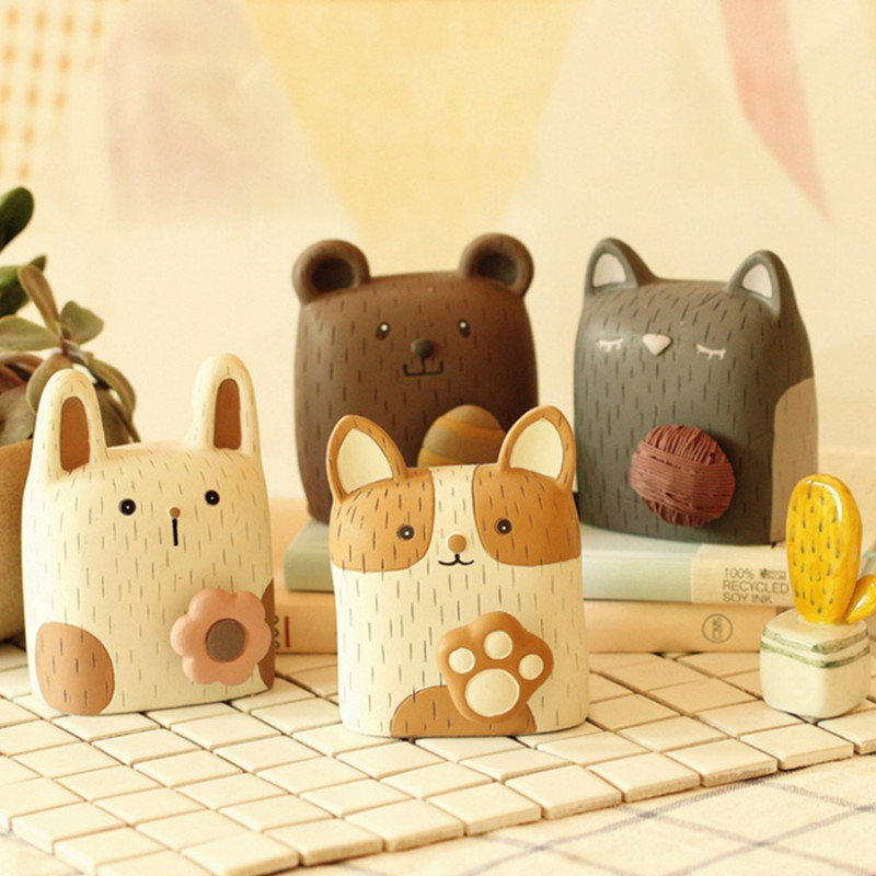Crafts Resin Home Decoration Decoration Cartoon Cute Animal Creative Gift 4 Shapes Kids Toys