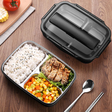 ONEISALL Stainless Steel Food Container 1000ml Lunch Box Bento Handbag Optional Thermal Insulation Chopsticks Spoon Eco-friendly