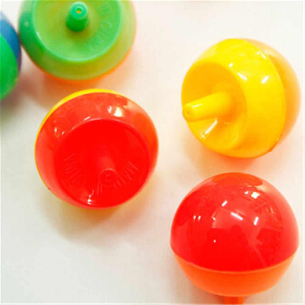 5 قطعة بلاستيكية صغيرة الإبداعية دليل الوجه الغزل الأعلى الدوران مضحك لعبة دمى هدايا تعليمية للأطفال