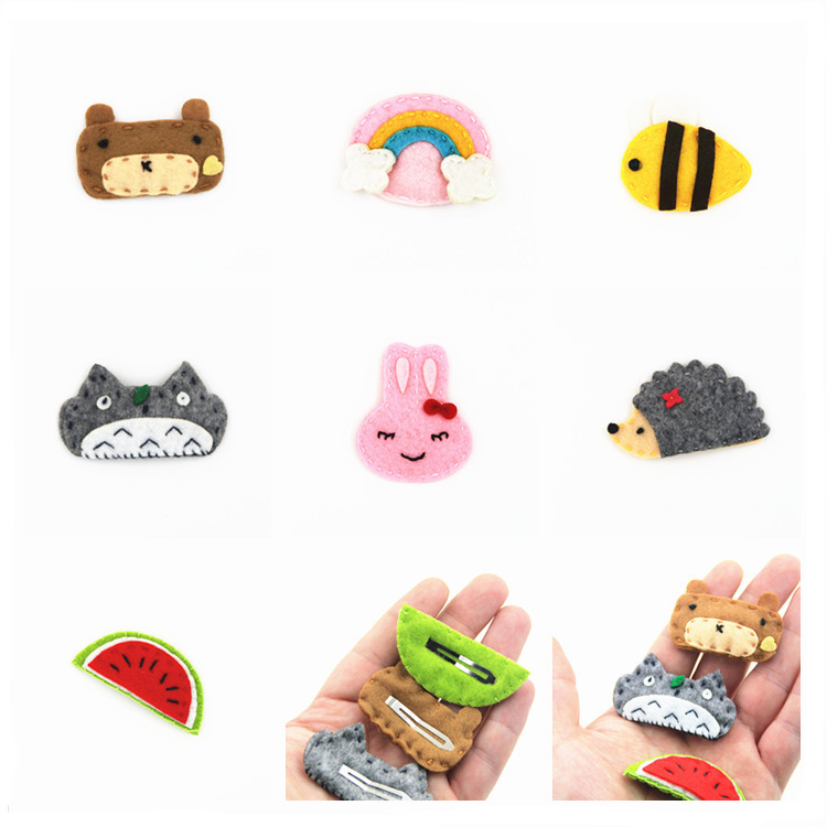 1 PCS Fashion Cartoon Animal Hedgehog BB Clip Hairpins Girls Hair Accessories Children Headwear Baby Hair Clips Headdress children fashion bobby pins hairpin headwear set 6pcs set girls cartoon hello kitty fox owl cat animal bb clips hair accessories