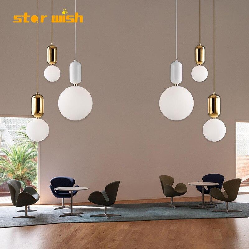 star wish glass ball pendant light 15cm 20cm 25cm for diner room bed room restaurant bar shop decoration E27 led
