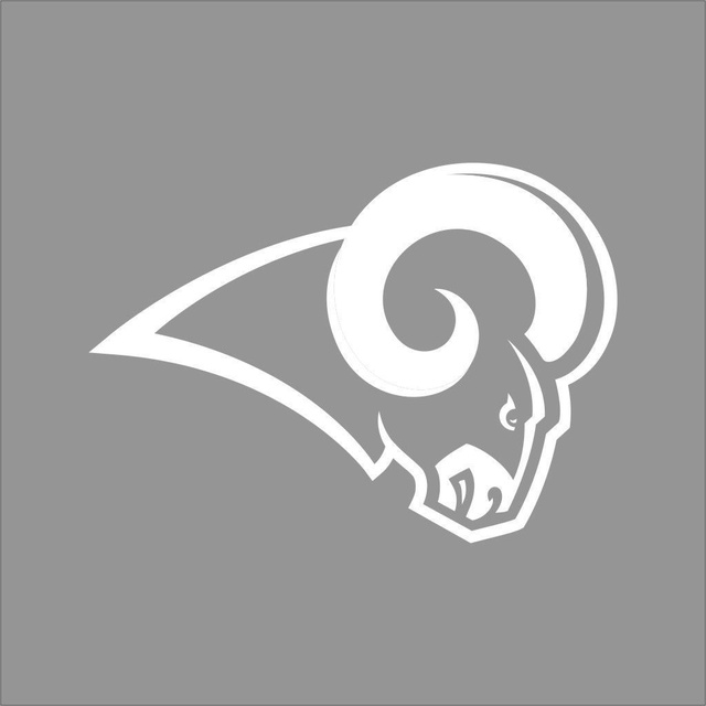 Car styling for los angeles rams nfl team color vinyl decal sticker car window wall
