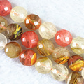 Newly tourmaline watermelon multicolor jade 4mm 6mm 8mm 10mm 12mm 14mm faceted round jasper loose beads 15 inch GE4029
