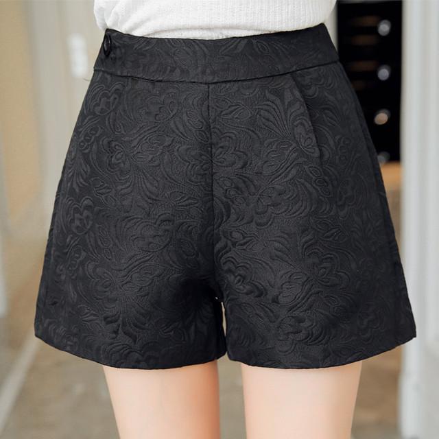 Nueva Moda de Europa y el Comodín oscuro pantalones cortos A Cuadros pantalones cortos de cintura alta de Corea Casual mujer Vaqueros Cortos ganchillo shorts Plus tamaño 4XL
