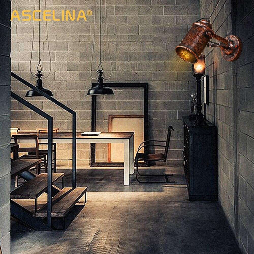 ferrugem ajustavel retro estilo country arandela loft bar cafe decoracao casa 03