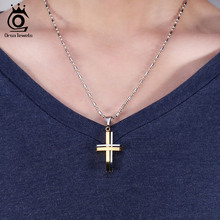High Quality Stainless Steel Cross Pendants Necklace (2 colors)
