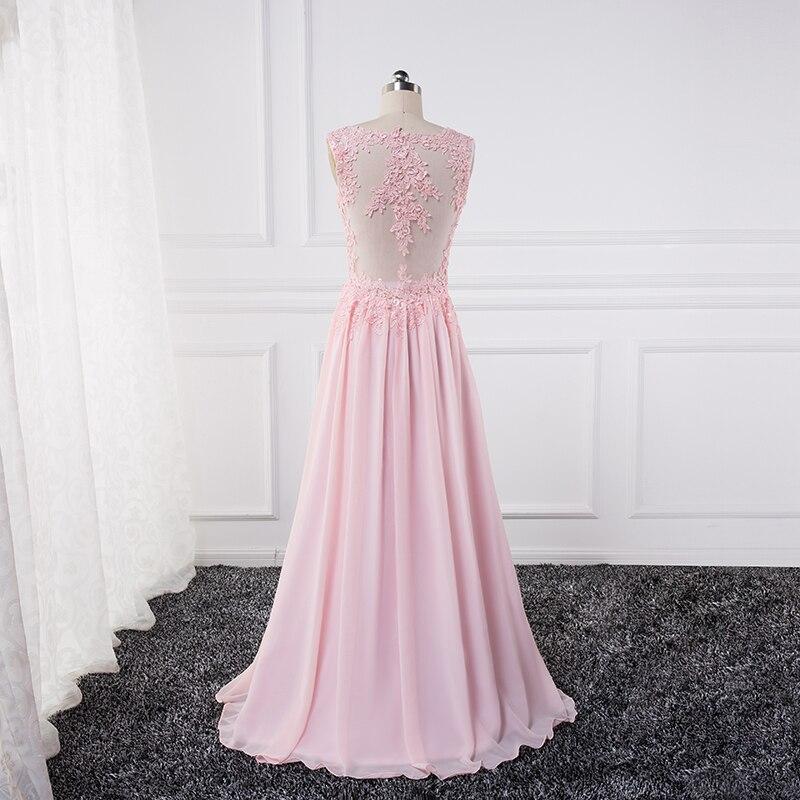 Sexy se gjennom Lace Appliques Evening Dresses 2018 pluss vestido de - Spesielle anledninger kjoler - Bilde 4