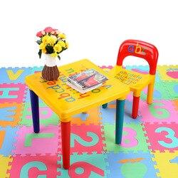 Cadeira conjunto para criança/crianças conjuntos de móveis e abc alfabeto mesa de plástico jantar piquenique mesa assento mobiliário
