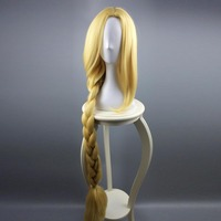 Princess Rapunzel Cosplay Women's Adult Extra Long Blonde Braids Rapunzel Cosplay Fairytale Tangled Halloween Costume Accessory