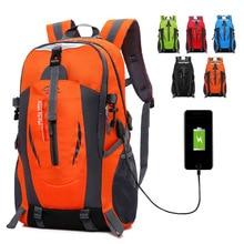 2018 модный универсальный большой легкий usb зарядный рюкзак для путешествий непромокаемая мужская повседневная сумка 15 дюймов рюкзак для ноутбука