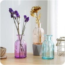 Home Decor Glass Vase European Style Fashion Handmade Glass Hydroponic Flower Vases Desktop Decor Flower Pot