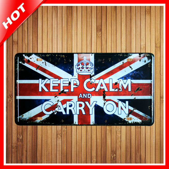 Hot Uk Flag Band Chic Home Bar Vintage Metal Signs Decor Tin Pub
