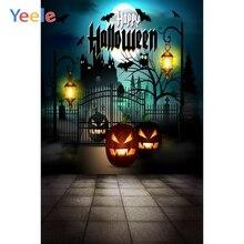 Yeele Happy Halloween Party Photography Background Pumpkin Lantern Photographic Backdrop Bat Photocall For Photo Studio