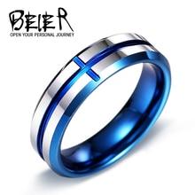 Beier 100% tungsten real moda 6mm de calidad superior conise tungsten anillo de alta pulido anillo de compromiso de boda w049
