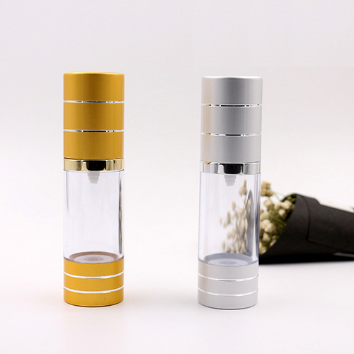 15ml 30ml 50ml 20pcs gold small AS liquid container airless pump bottles silver mini lotion/emulsion airless cosmetic bottle