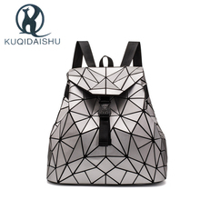 Women Bao Backpack 2019 Hologram Fashion Laser Geometric Teenager Girls School Bag mochila feminina mujer travel rucksack plecak