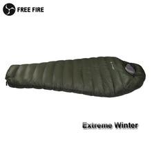 Saco de dormir do inverno da temperatura fria saco de dormir para o inverno, pato verde do exército para baixo enchimento 1kg 1.5kg para baixo saco de dormir