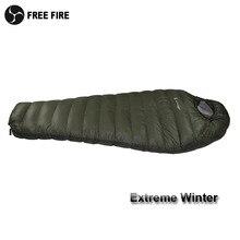 Winter Slaapzak Koude Temperatuur Slaapzak voor Winter, legergroen Eendendons Vulling 1kg 1.5kg Slaapzak