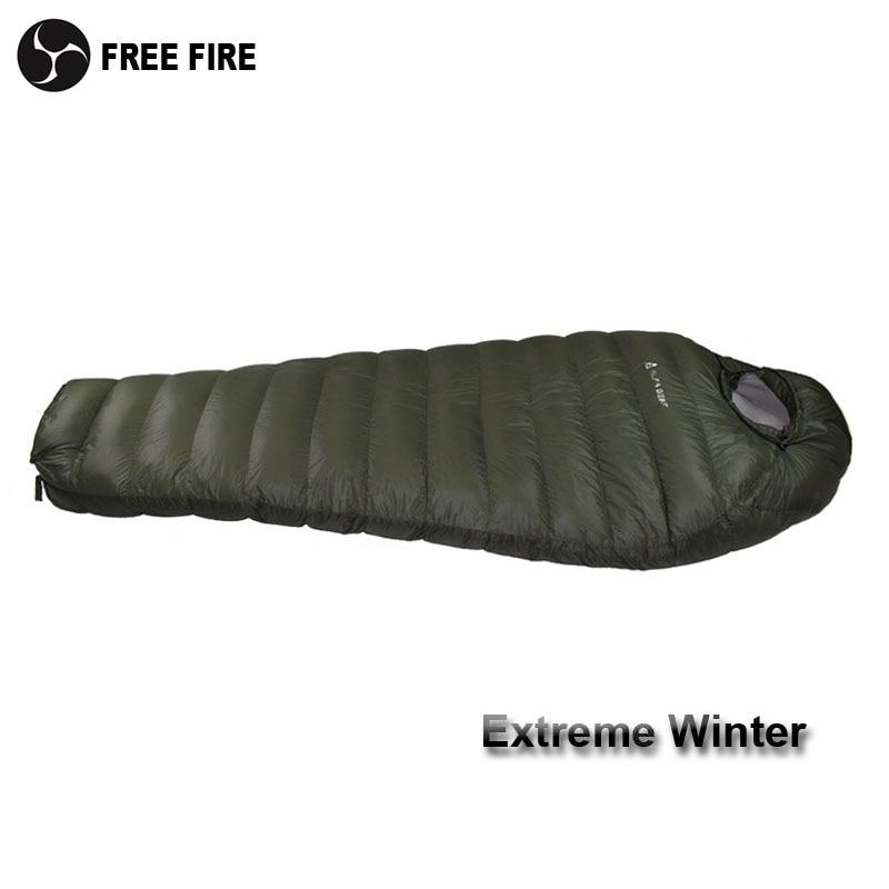 спальный мешок на минусовую температуру - Winter Sleeping Bag Cold Temperature Sleeping Bag for Winter, Army Green Duck Down Filling 1kg  1.5kg down Sleeping Bag