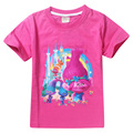 2017 Summer Kids Good Luck Trolls Short Sleeve Tees Clothing Children T Shirts 100% Cotton Youth Girls T-Shirts Clothes TM6881