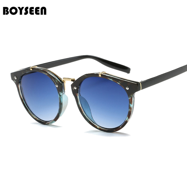 c4e624f62e7 BOYSEEN Retro Rivet Women Polarized Sunglasses Men Classic Brand Designer  Unisex Sun Glasses Half Frame Oculos