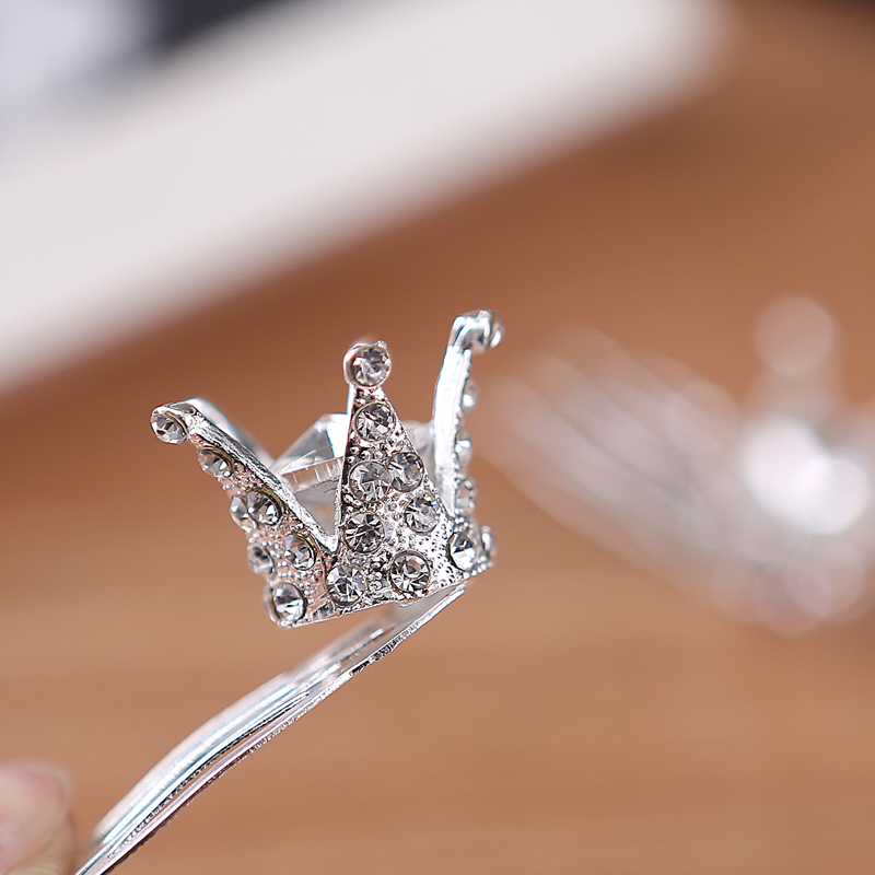 Tjejer Barn Söt Crystal Princess Party Crown Tiara Hair Pin Clips - Märkessmycken - Foto 4