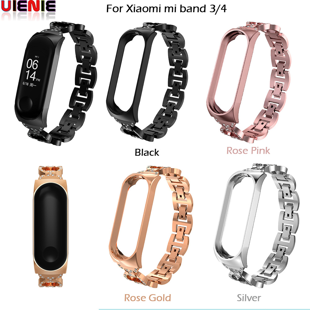 Mi Band 4 Stainless Steel Strap For Xiaomi Miband 3 4 Smart Bracelet Metal Belt Watch Band For Xiaomi MiBand 3 Band4 Accessories