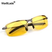 WarBLade новые мужские поляризованные солнцезащитные очки для вождения желтые линзы очки ночного видения очки поляроидные уменьшающие блики для мужчин