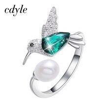 034358e41f1d Cdyle de plata 925 de la joyería de las mujeres anillos adornado con  cristales Ringen Voor