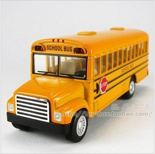 Classic American school bus side door can open pull back alloy car mini model kids souvenir school life gifts + free shipping
