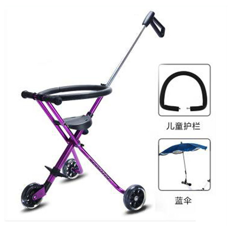 Carbon Steel Three Wheels Portable Baby Carriage Foldable Baby Stroller Travel Tricycle Trike Child Walker Handbar PushchairCarbon Steel Three Wheels Portable Baby Carriage Foldable Baby Stroller Travel Tricycle Trike Child Walker Handbar Pushchair